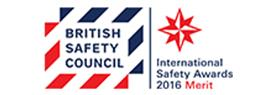 British Safety Council International Safety Awards 2016 Merit