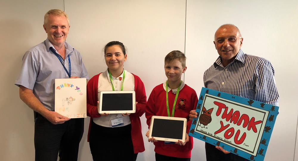 PCH staff donate tech to local school - Plymouth Community Homes